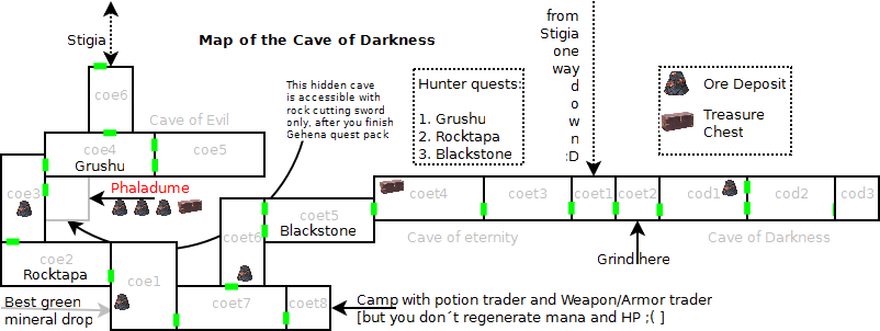 Cave of Darkness map