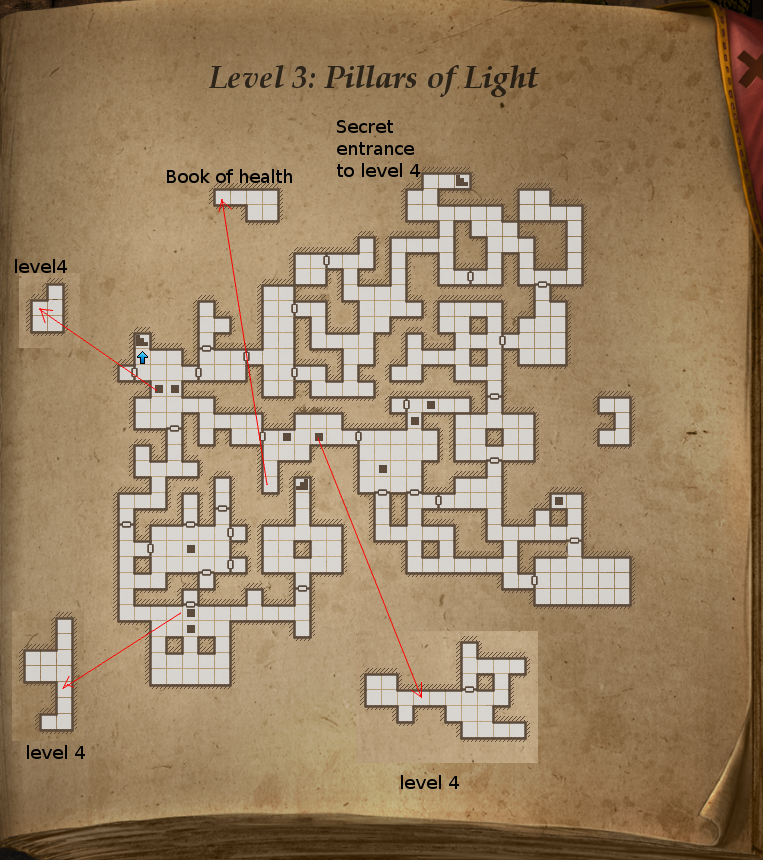 Legend of Grimrock, level 3 map