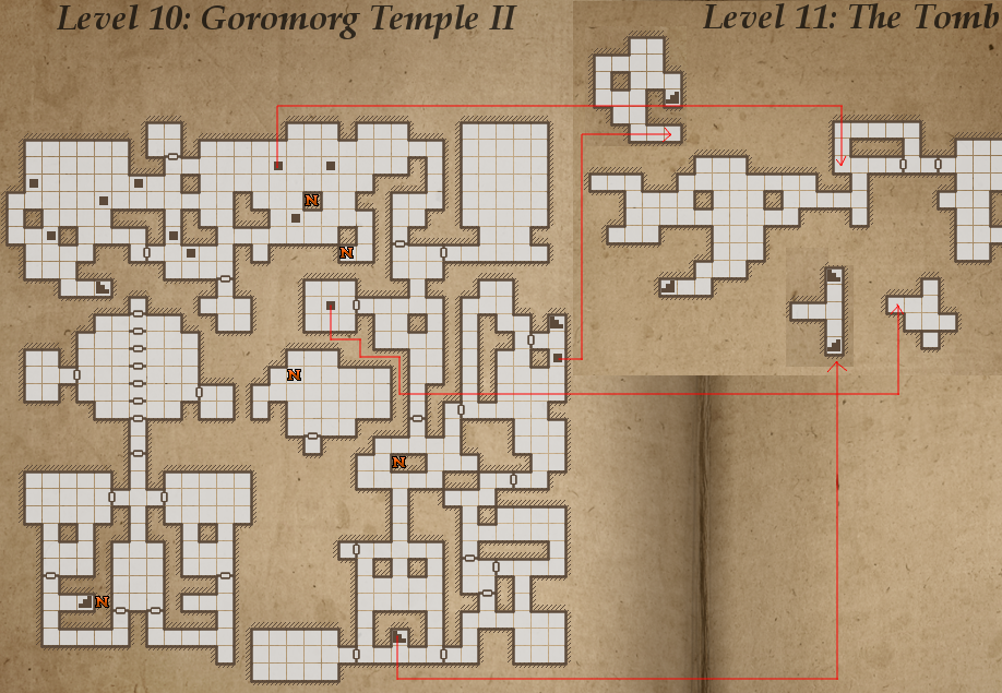 Legend of Grimrock, Map for Level 10: Goromorg Temple II