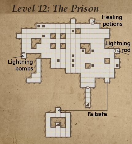 Legend of Grimrock, level 12: The prison