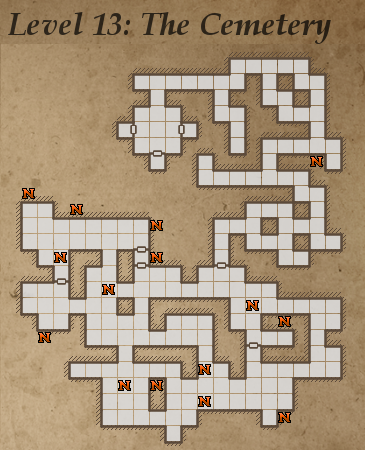 Legend of Grimrock, level 13: The cemetery.