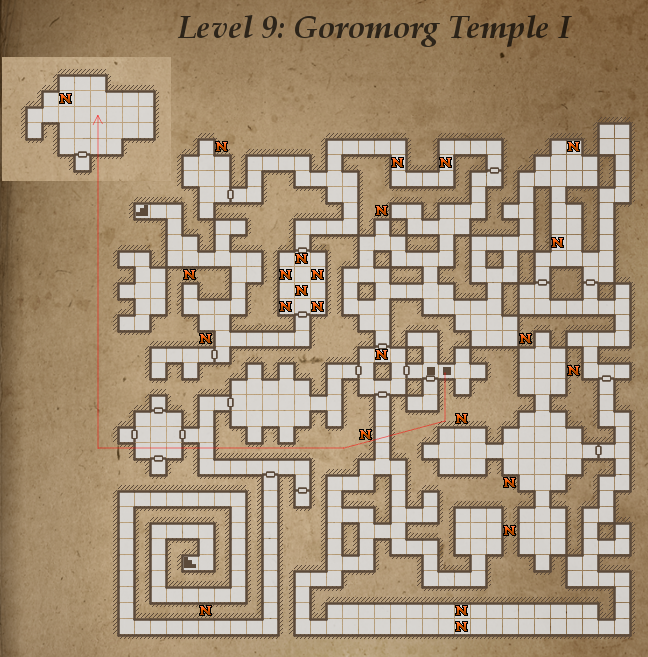Level 9 map: Goromorg temple I for Legend of Grimrock