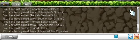 Dismantle 4 items to 4 crystals